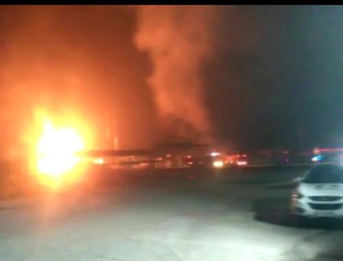 陕西延安一石油伴生气再生利用厂火灾 致4伤