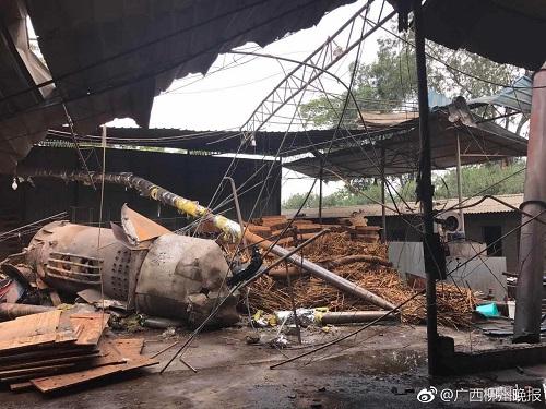广西柳州一木材加工厂房锅炉爆炸 一男一女受伤